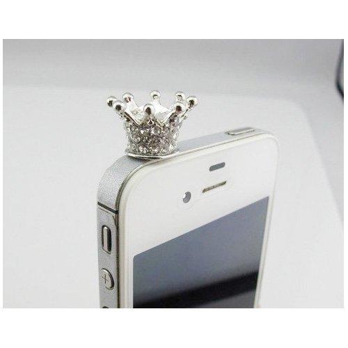 Water & Wood 1Pcs 3.5Mm Rhinestone Crown Anti Dust Earphone Jack Plug Stopper For Iphone Samsung Htc