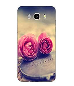 Case Cover Love Printed Hard Back Cover For SAMSUNG Galaxy J5 - 6 (New 2016 Edition)