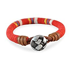 Sarah Red Stylish Openable Multicolour Thread with Button Clasp for Men