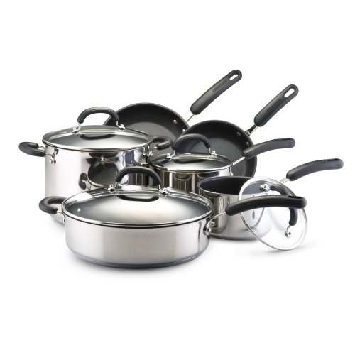 Stainless Steel Cookware Sets Circulon Steel 10 Piece Stainless Steel Nonstick Cookware Set
