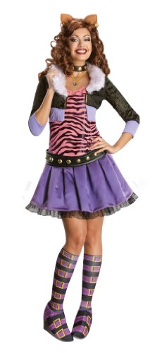Secret Wishes Monster High Deluxe Adult Clawdeen Wolf Costume