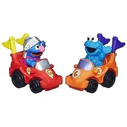 Playskool Sesame Street Racers (Super Grover and Cookie Monster)