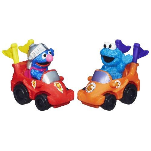 Playskool Sesame Street Racers (Super Grover and Cookie Monster) - 1