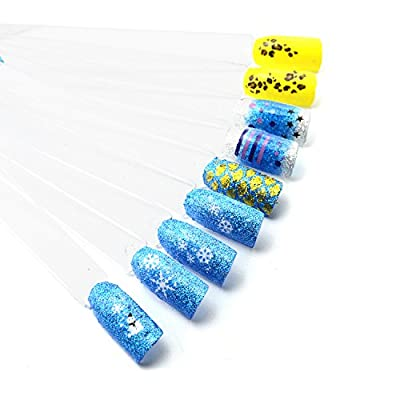 iNewcow Sheet of 5 Nail Art Sticker French Manicure Tip Guides Stickers