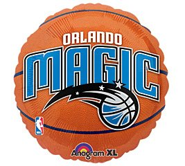 "Anagram International Orlando Magic Flat Party Balloons, 18"", Multicolor"