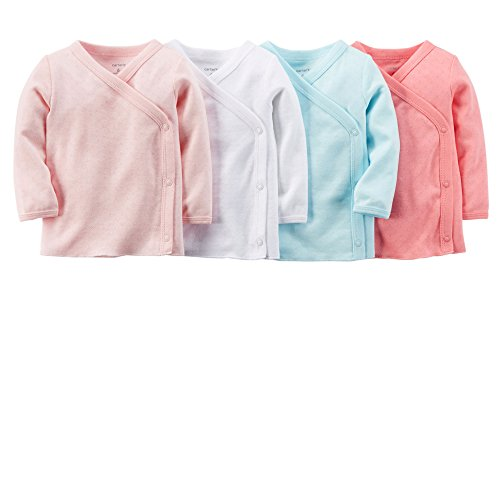 Carters-Baby-Girls-Side-Snap-Pointelle-Tee-4-Pack