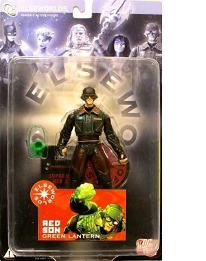 Picture of DC Comics Elseworlds Series 3 Red Son Green Lantern Action Figure (B000OQCSOG) (Green Lantern Action Figures)