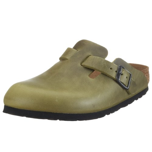 Birkenstock Boston Smooth Leather, Style-No. 960301, Unisex Clogs, Antique Olive, EU 41, normal width