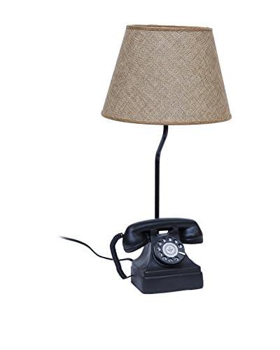 Novità Home Lámpara De Mesa Old Telephone Negro / Natural