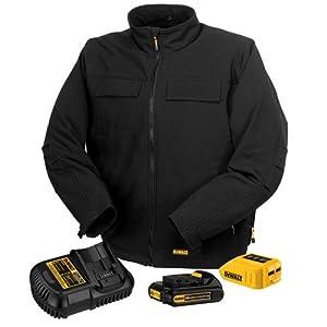 DEWALT DCHJ060C1-L 20V/12V MAX Black Heated Jacket Kit, Large