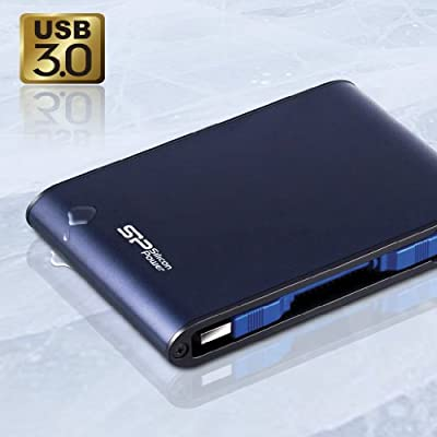 Silicon Power Rugged Armor A80 1 TB 2.5-Inch USB 3.0 and USB 2.0 Portable External Hard Drive (Blue)