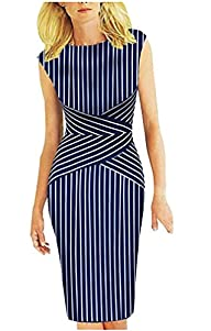 BAIMIL Sleeveless Vertical Stripes Su…