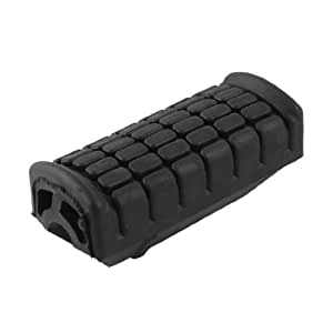Black Rubber Rectangle Textured Pedal Cover Foot Peg for Motorbike
