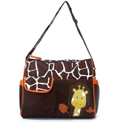 Mochilas-de-Beb-Bolsa-De-Paales-Cambiar-Paal-Bolso-Multifunctional-para-madre-Patrn-Giraffe-naranja