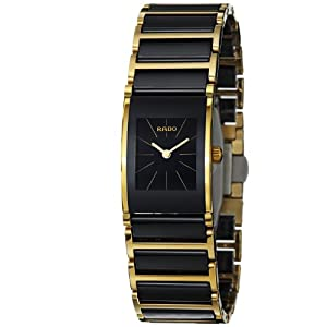 Rado Women's R20789162 Cerix Black Ceramic Bracelet Watch: Rado