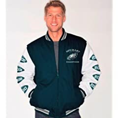 Philadelphia Eagles NFL Hall of Fame Super Bowl Commemorative Canvas Varsity Jacket by G-III Sports