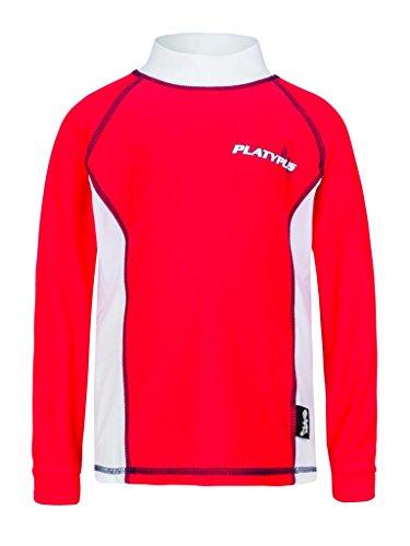 Platypus Australia Big Boy'S Upf50 Swim Rash Guard Long Sleeve Panel 8 Red/White
