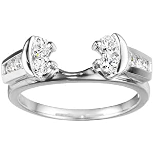 Sterling Silver Wedding Ring Wrap (0.48 crt. Cubic Zirconia).