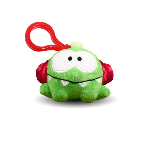 """Cut The Rope 3"""" Talking Plush With Clip, Headphones"""