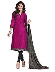 Mantra Fashion New Designer Havy Embroidery Dark Pink And Black And Havy Printed Dupatta Chudidar Style Salwar...