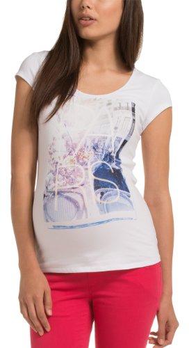Damen Umstands T-Shirt Tee ss  Gr. 38  Herstellergröße  38  M    Mehrfarbig  White 100