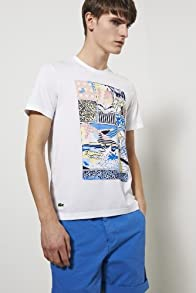 L!ve Short Sleeve Cotton Jersey Mural Graphic T-shirt