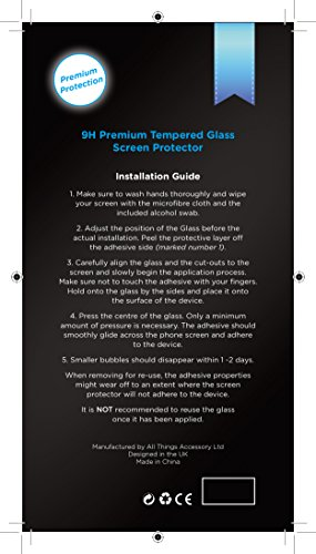 Smash Terminator? Premium Quality Tempered Glass Screen Protector for New Smart Phones Android (0.25mm) Ultra Thin Lightweight Rounded Edge Hardness up to 9H (harder than a knife) - Includes Microfibre Cleaning Cloth, Dust Remover. UK Designed Product by AllThingsAccessory? (Samsung S3)