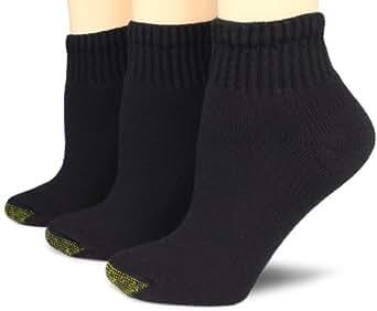 Gold Toe Women's 3 Pack Ultratec Quarter Socks, Black, 9 ...