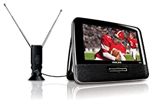 Philips PVD700/37 Portable 7-Inch LCD TV, Black
