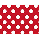 Brand New Red & White Polka Dot Gift Wrap Wrapping Paper 16 Foot Roll