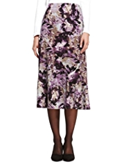 Classic Splash Floral Long Skirt