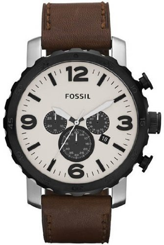 Fossil JR1390 Nate Leather Watch - Brown