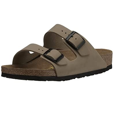 Birkenstock Sandals ''Arizona'' from Birko-Flor in stone 38.0 EU N