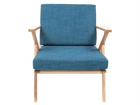Fauteuil arm chair bleu navy 1960