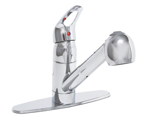 Premier 120437LF Bayview Lead-Free Single-Handle Pull-Out Kitchen Faucet, Chrome