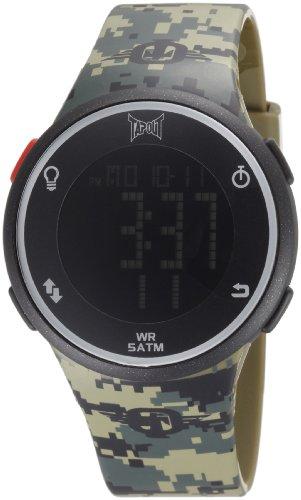 TapouT Men's HE-GR Digital Green Camo Watch