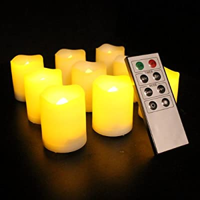 Frostfire Mooncandles - 9 Indoor and Outdoor Votive Candles with Remote Control & Timer from Frostfire
