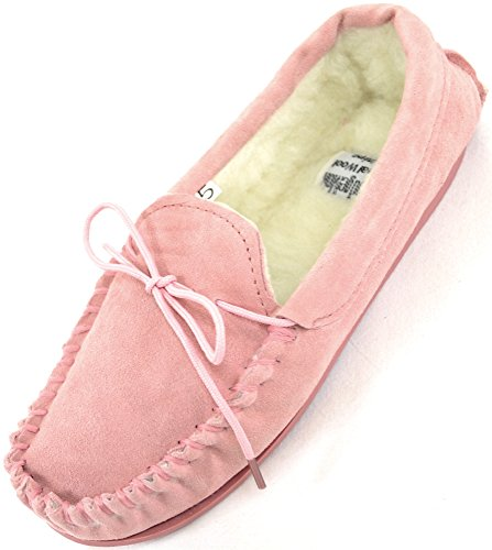 ladies-womens-genuine-suede-leather-moccasin-slippers-with-warm-wool-lining-pink-uk-7