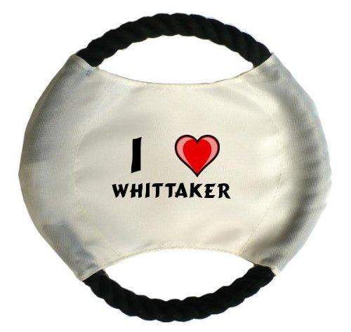 personalisierter-hundefrisbee-mit-aufschrift-ich-liebe-whittaker-vorname-zuname-spitzname