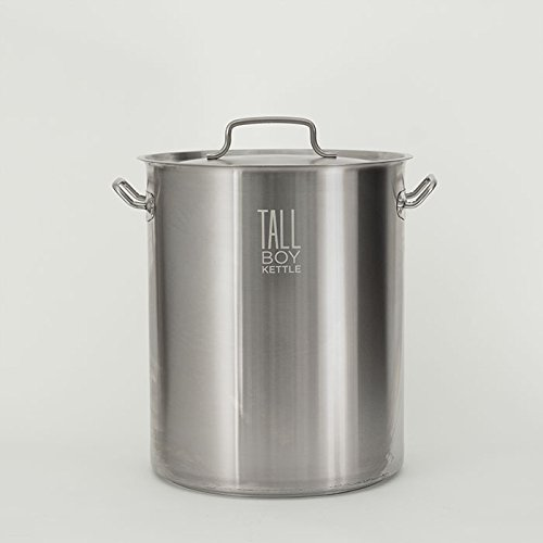 Tall Boy Home Brewing Kettle Stainless Steel Stock Pot - 15 Gallon Capacity - 60 Quart (Brew Kettle 15 Gallon Stainless compare prices)