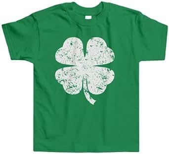 Threadrock Little Boys' Distressed Four Leaf Clover Toddler T-Shirt 2T Kelly Green