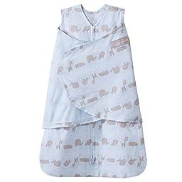 HALO SleepSack 100% Cotton Swaddle, Blue Jungle Line, Small