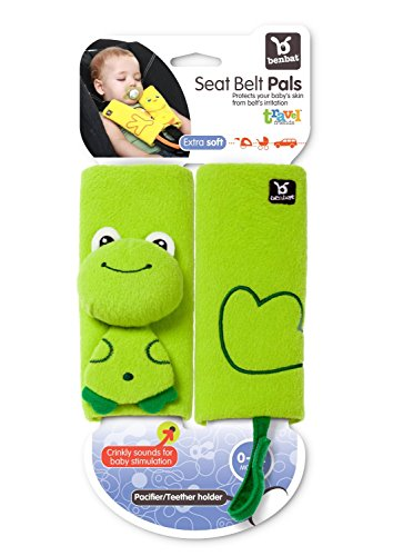 EZ Life Ez Life Funny Frog Benbat Travel Friends Seat Belt Pals