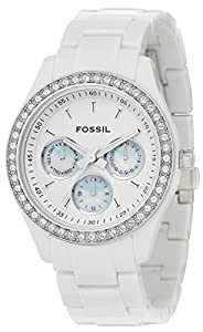 White Stella Multifunction Resin Watch by Fossil