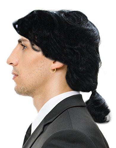 [Vincent Vega Wig Vincent Vega Costume Pulp Fiction Wig With Ponytail Wig For Men] (Pulp Fiction Vincent Vega Costume)