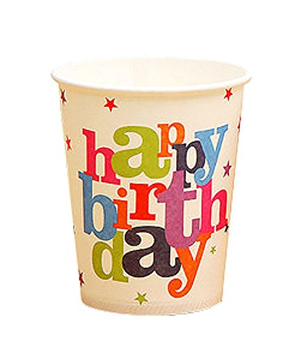 Birthday Party Cartoon Child Drink Cups Party Paper Cups 15 Pcs