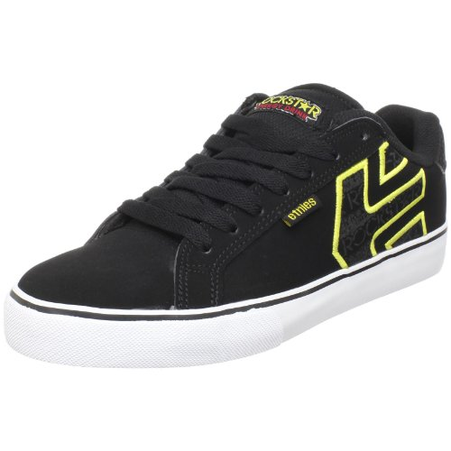 Etnies Men's Rockstar Fader Vulc Skate Shoe,Black/Yellow/Black,9.5 M US