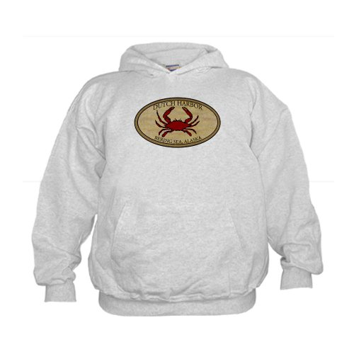 Crab Fishing Alaska Kids Hoodie by CafePress - L Ash Grey
