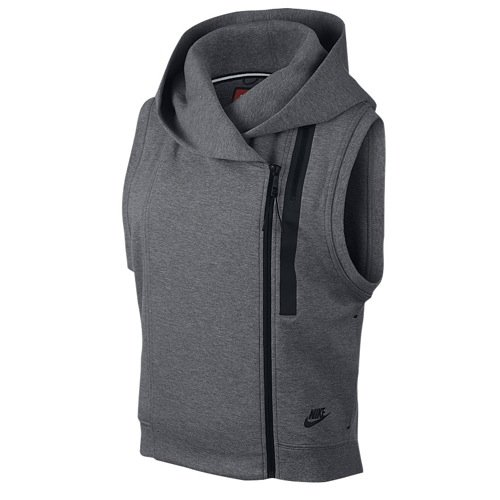 Nike Womens Tech Fleece Cape Vest GRAY LARGE