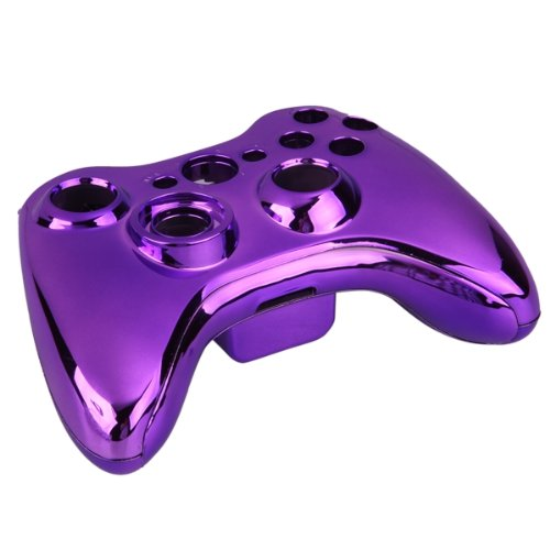 Purple Chrome Full Housing Shell Case Cover For Xbox 360 Wireless Controller